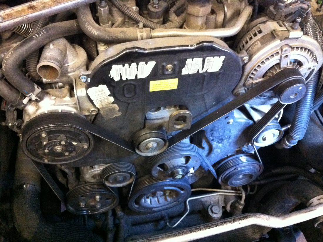 water pump location on 2002 jeep liberty